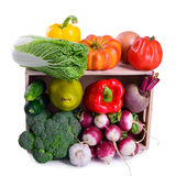 Ripe vegetables in box Royalty Free Stock Photo
