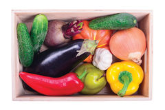 Ripe vegetables in box Royalty Free Stock Photography