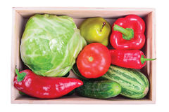 Ripe vegetables in box Royalty Free Stock Image