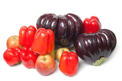 Ripe vegetables and fruits Stock Images