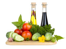 Ripe vegetables and herbs Royalty Free Stock Photos