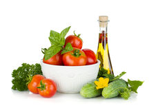 Ripe vegetables and herbs Stock Photos