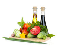 Ripe vegetables and herbs Stock Image
