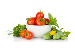 Ripe vegetables and herbs Royalty Free Stock Images