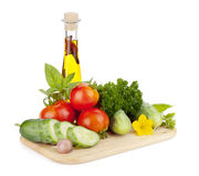 Ripe vegetables and herbs Royalty Free Stock Photography
