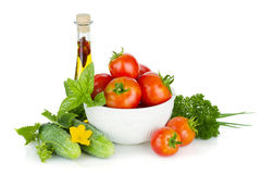 Ripe vegetables and herbs Stock Photo
