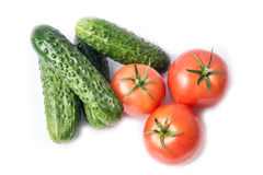 Ripe vegetables isolated on white Stock Images