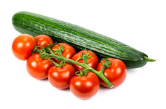 Ripe vegetables isolated on white background Royalty Free Stock Photos