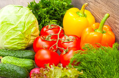 Ripe vegetables Stock Photo