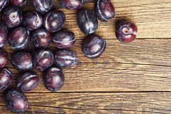 Ripe violet plums Stock Images