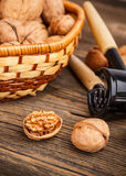 Ripe walnuts Stock Photo