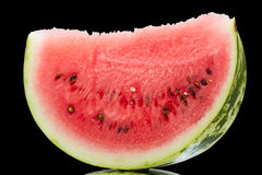 Ripe watermelon on black Stock Photography