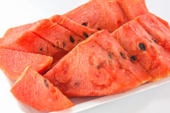 Ripe watermelon isolated. On white background Royalty Free Stock Photography
