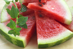 Ripe watermelon Stock Images