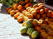 Ripe watermelons. For sale at street market Stock Images