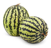 Ripe watermelons berry isolated on white Royalty Free Stock Image