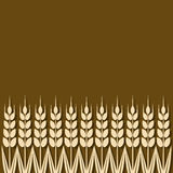Ripe wheat ears background. Vector illustration. eps 8 Stock Photo
