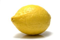 Ripe whole lemon Stock Images
