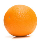 Ripe whole orange Stock Photos