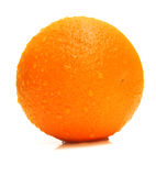 Ripe whole orange Stock Photography