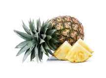 Ripe whole pineapple Stock Photos