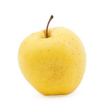 Ripe yellow apple Stock Images