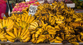 Ripe yellow banana Royalty Free Stock Photos