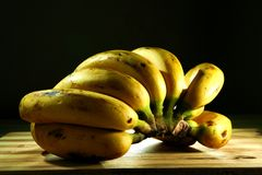 Ripe Yellow Banana. Photo of a bunch of ripe yellow banana Stock Photos