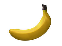Ripe yellow banana - vector art. Vector illustration of a yellow banana Royalty Free Stock Photography