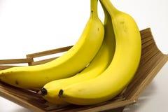 Ripe yellow bananas Stock Images