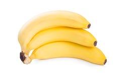 Ripe yellow bananas  isolated on white background Royalty Free Stock Photo