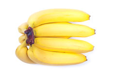 Ripe yellow bananas isolated on white background with shadow Royalty Free Stock Photography