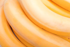 Ripe yellow bananas  on white background with shadow Stock Photography