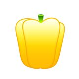 Ripe yellow bell pepper stock photos