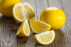 Ripe yellow grapefruit Royalty Free Stock Images