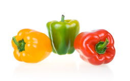 Ripe Yellow, Green and Red Paprika Stock Image