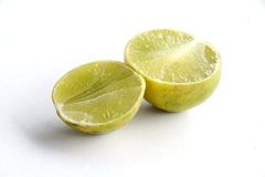 Ripe yellow lemon Stock Photos