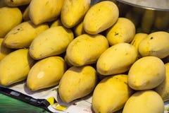 Ripe yellow mangoes stock photos