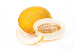 Ripe yellow melons. Royalty Free Stock Images