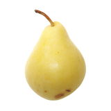 Ripe yellow pear isolated on white Stock Image