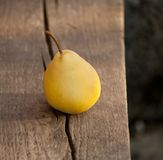Ripe yellow pear Royalty Free Stock Image