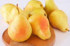 Ripe yellow pears Stock Images