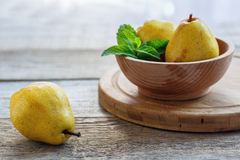Ripe yellow pears. Stock Photography