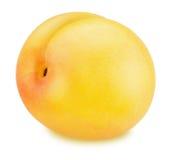 Ripe yellow plum isolated Stock Photos