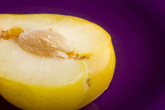 Ripe yellow plums Stock Image
