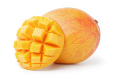 Ripe yellow red mango Stock Images