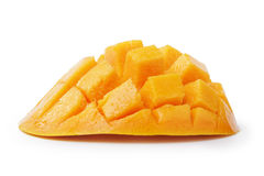Ripe yellow red mango slice Royalty Free Stock Image