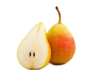 Ripe yellow-red pear Stock Photography