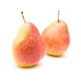 Ripe yellow and red pears Royalty Free Stock Photos