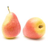 Ripe yellow and red pears Royalty Free Stock Image